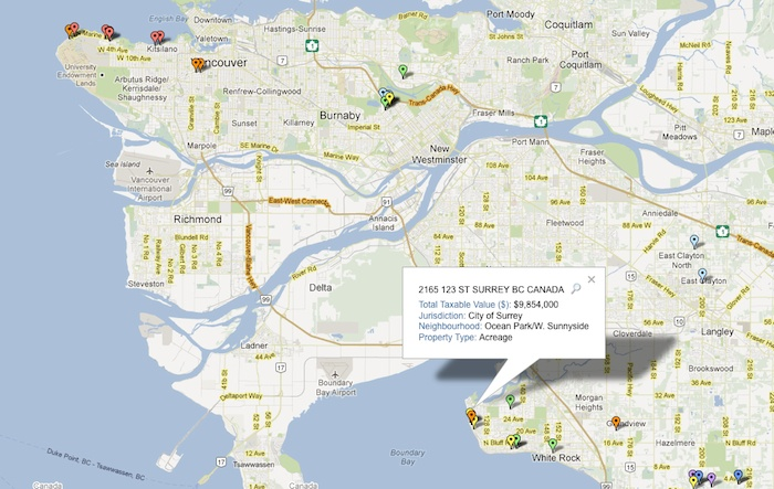 Surrey Canada Map.Interactive Map Lower Mainland S Priciest Homes Surrey Now Leader