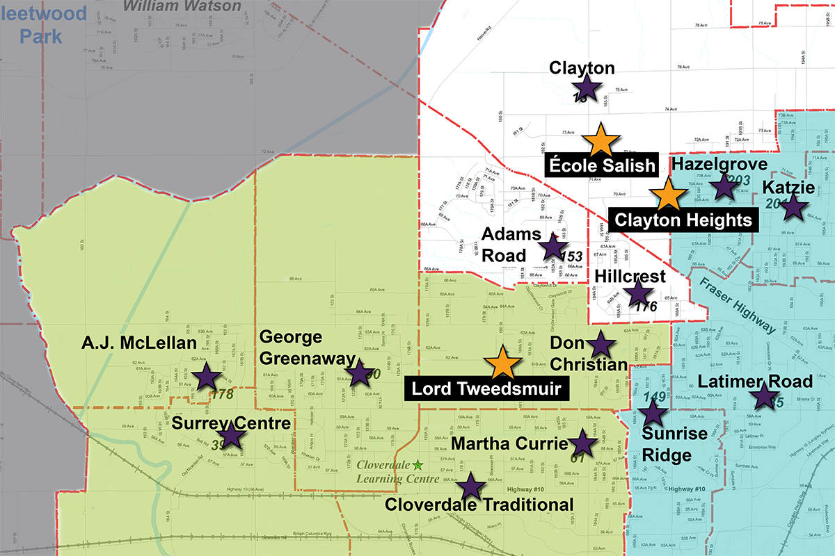 New Cloverdale catchment boundaries when Salish Secondary opens