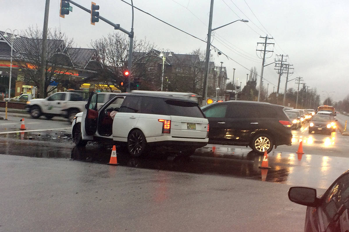 Crash at 176th Street and 64th Avenue in Surrey – Surrey Now