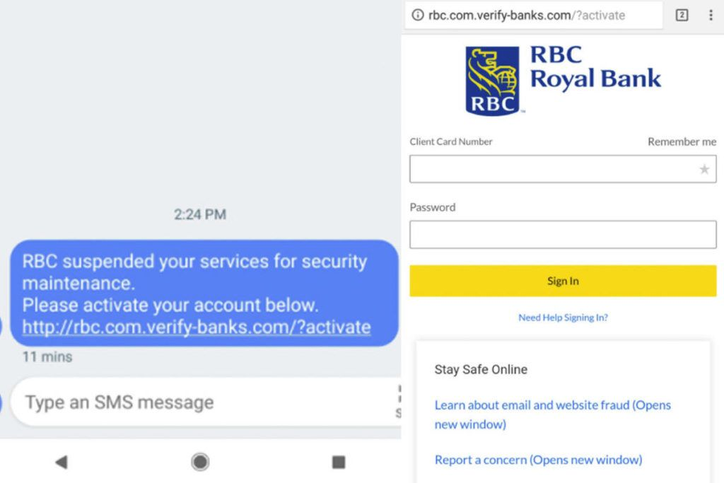 RBC warns of text message 'phishing' scam – Surrey Now-Leader