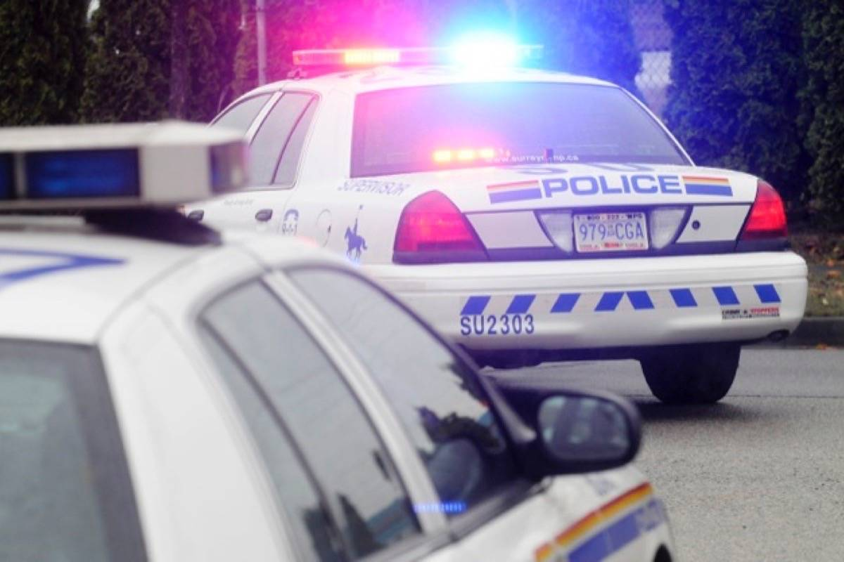 Surrey RCMP stop vehicle with firearm inside in Cloverdale