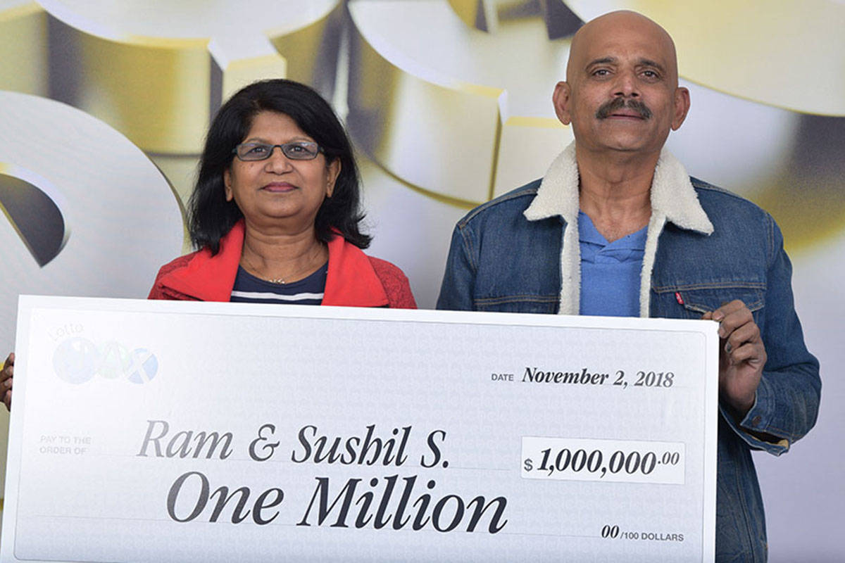 Surrey couple wins $1M playing Lotto Max – Surrey Now-Leader