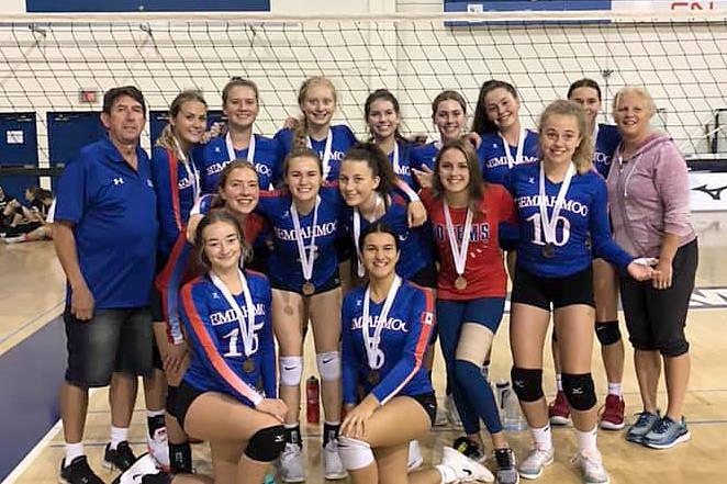 Totems senior girls third on UBC volleyball court