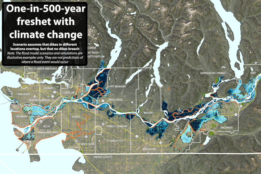 MAP: Climate change to put Pitt Meadows, Richmond and Ladner at risk of major river flood - Surrey Now-Leader